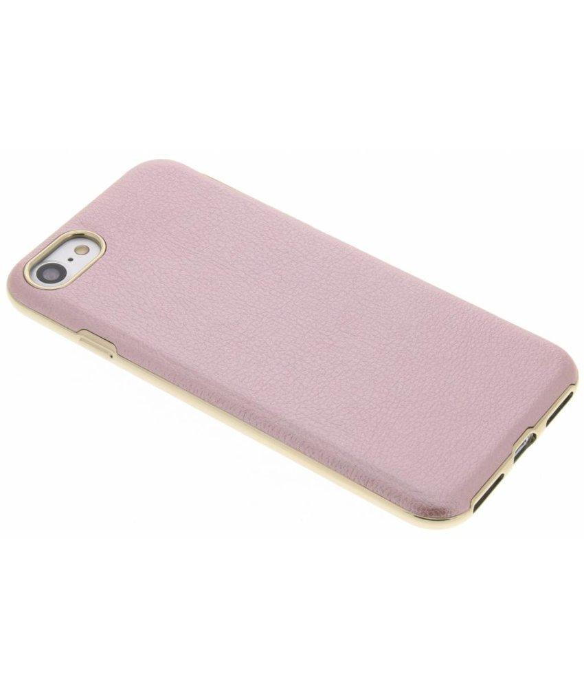 Roze TPU hoesje met gouden rand iPhone 8 / 7