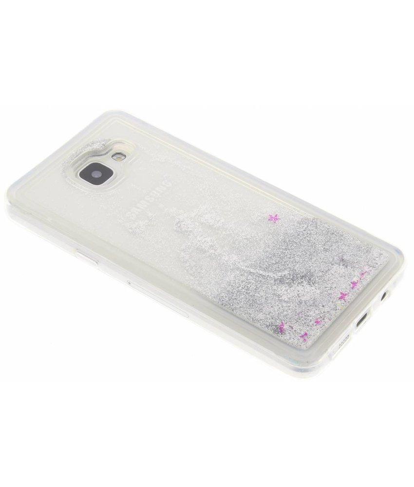 Zilver Liquid Glitter Case Samsung Galaxy A5 (2016)
