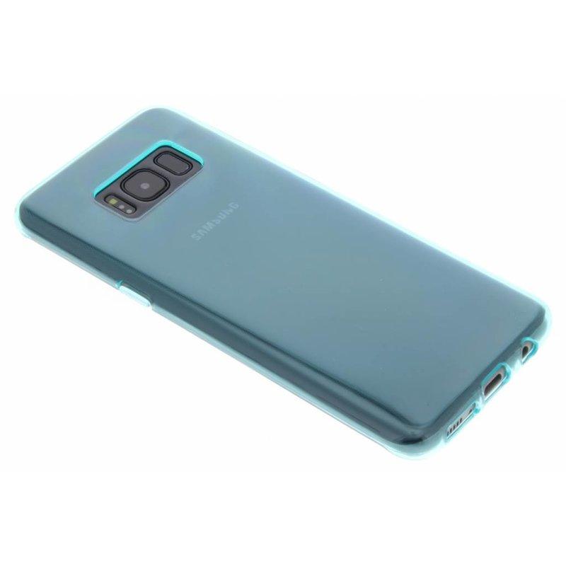 Blauw transparant gel case Samsung Galaxy S8