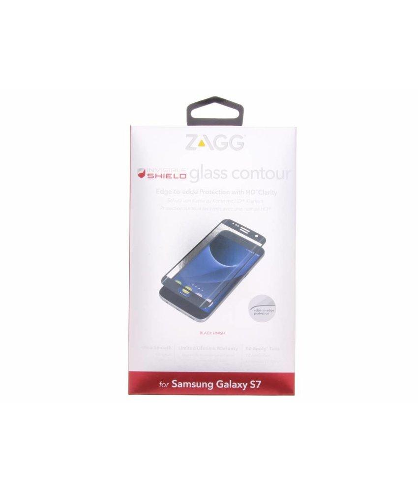 ZAGG Glass Contour screen protector Galaxy S7 - Zwart