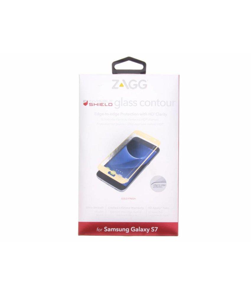 ZAGG Glass Contour screen protector Galaxy S7 - Goud