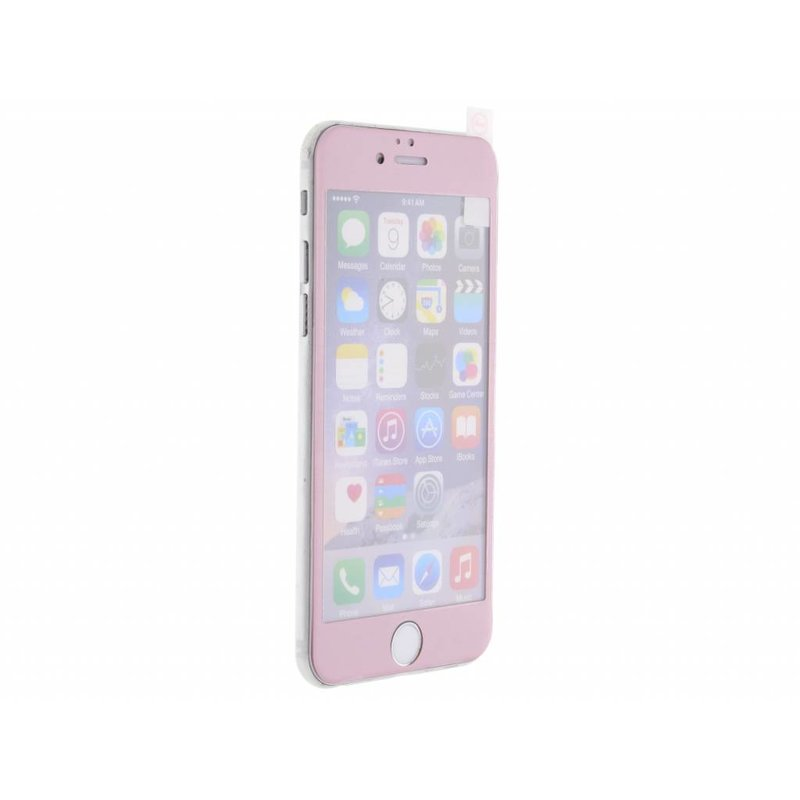 Gehard glas screenprotector iPhone 6 / 6s - Roze