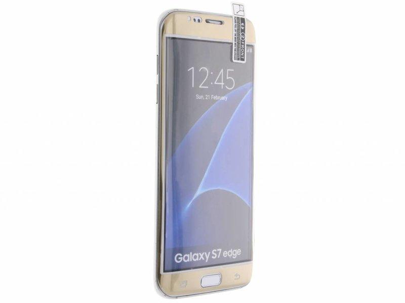 Screenprotector voor de Samsung Galaxy S7 Edge - Goud