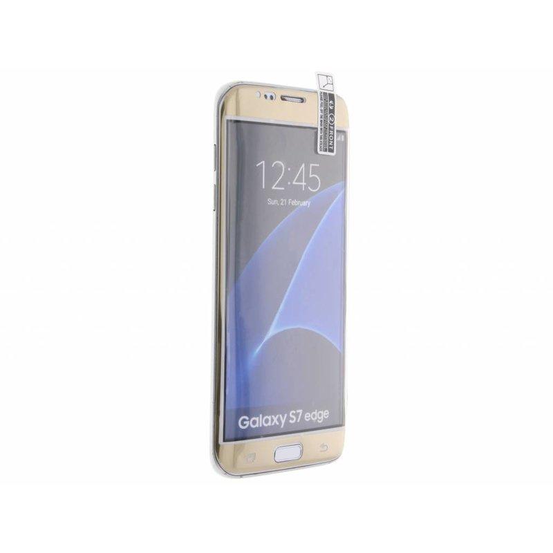 Screenprotector Samsung Galaxy S7 Edge - Goud