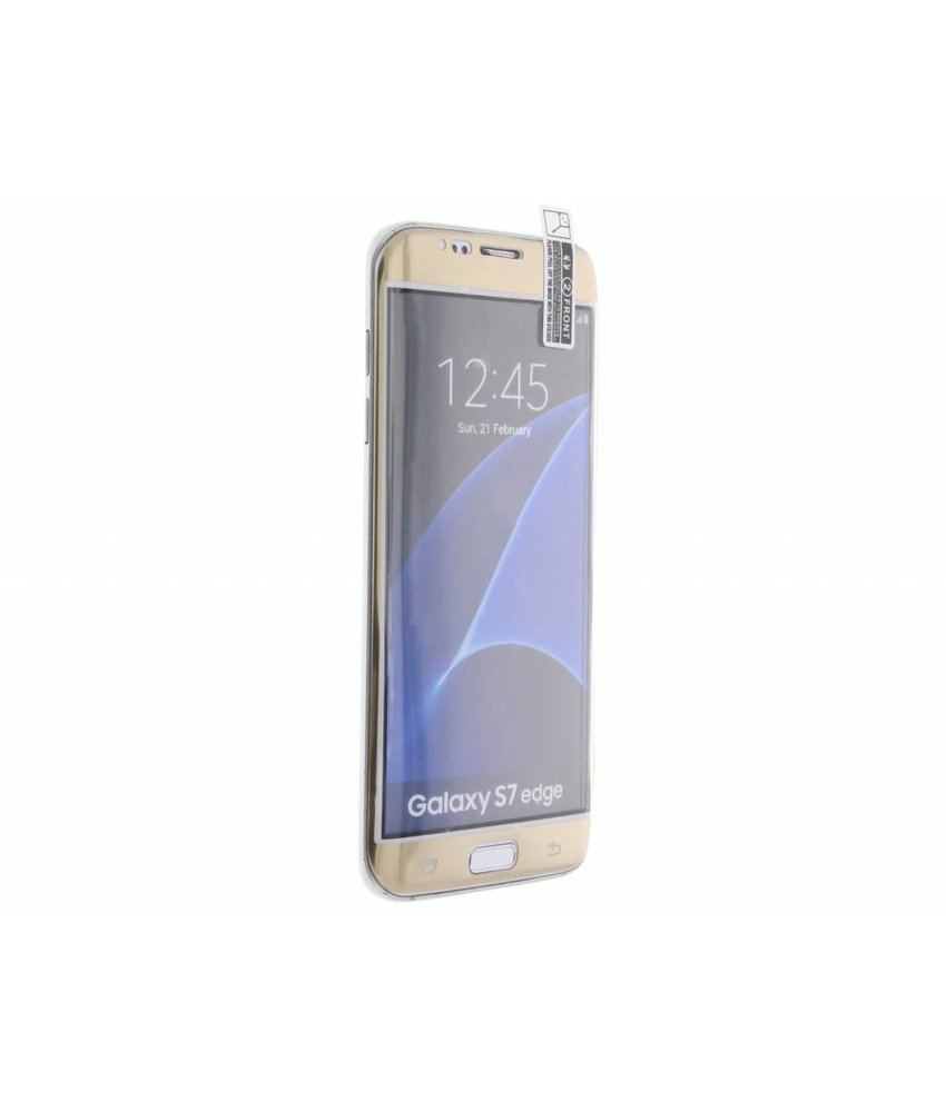 Screenprotector Samsung Galaxy S7 Edge - Goud