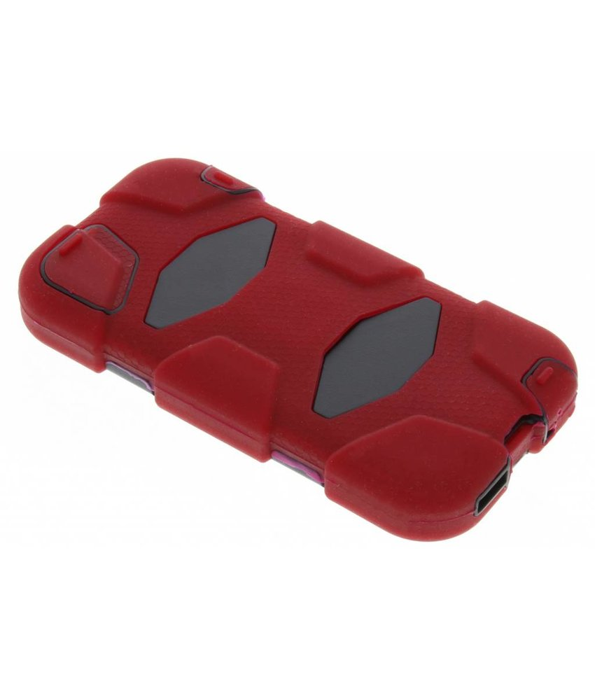 Rood extreme protection army case iPhone 5 / 5s / SE