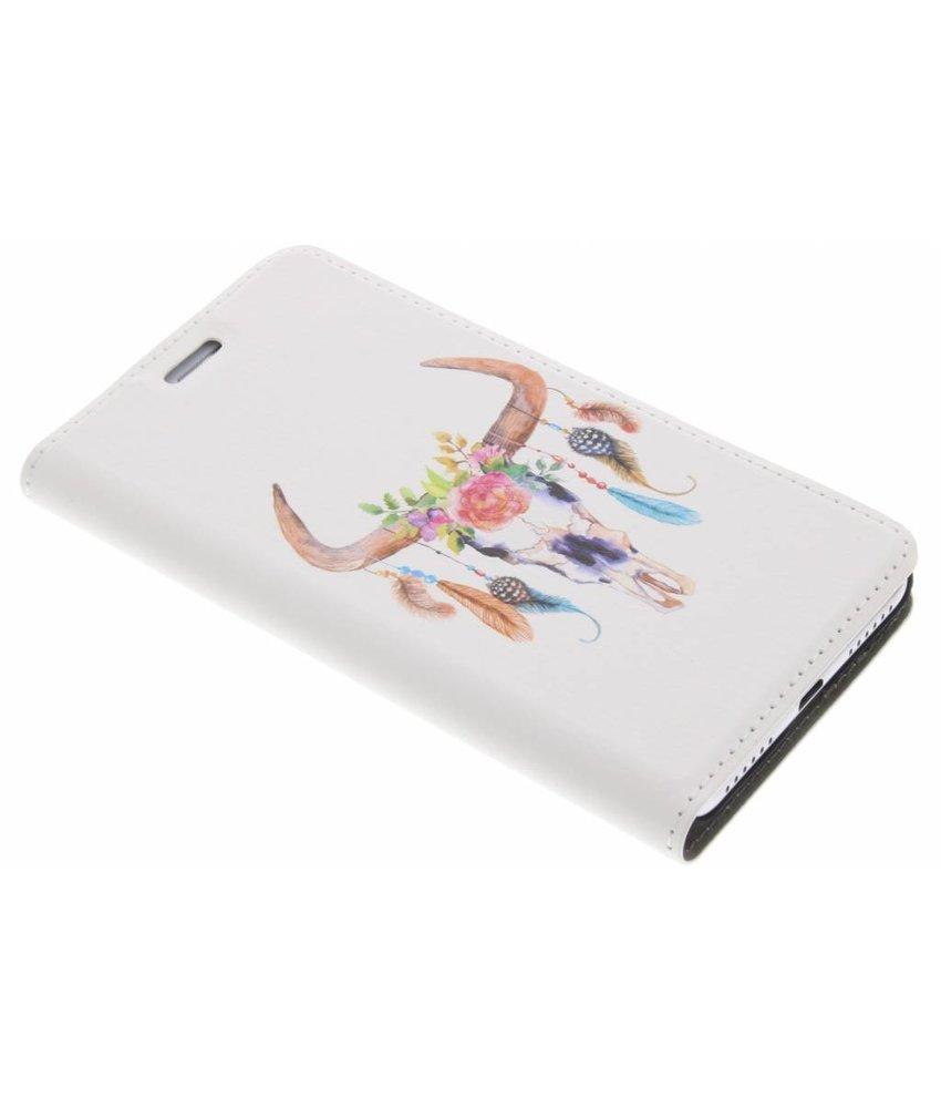 Bull Skull Design Booklet Huawei Y5 2 / Y6 2 Compact