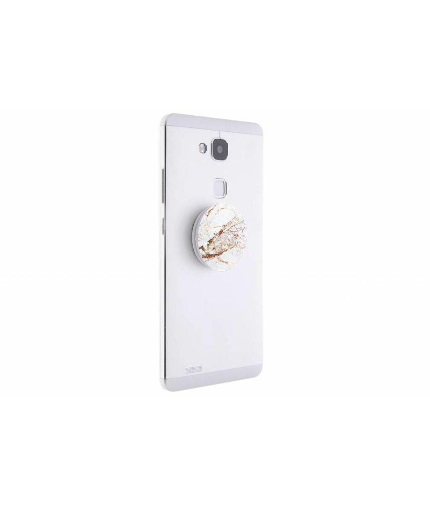 PopSockets Marmer white gold design
