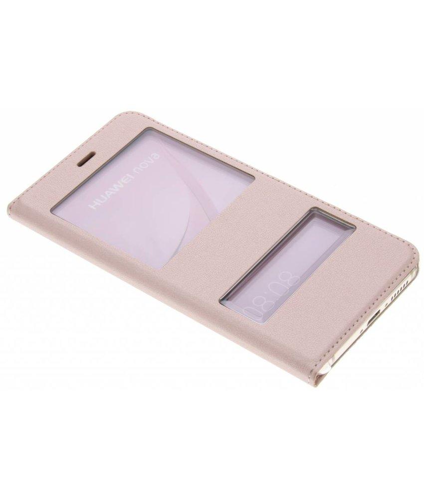 Slim booktype met venster Huawei Nova