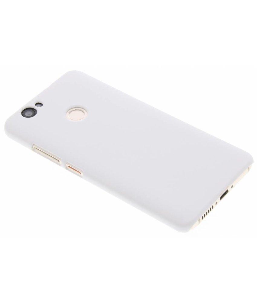 Wit effen hardcase hoesje Huawei Nova