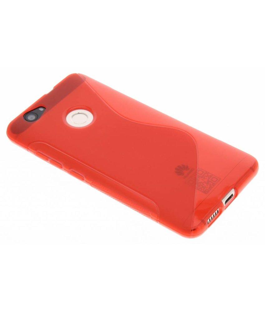 Rood S-line TPU hoesje Huawei Nova