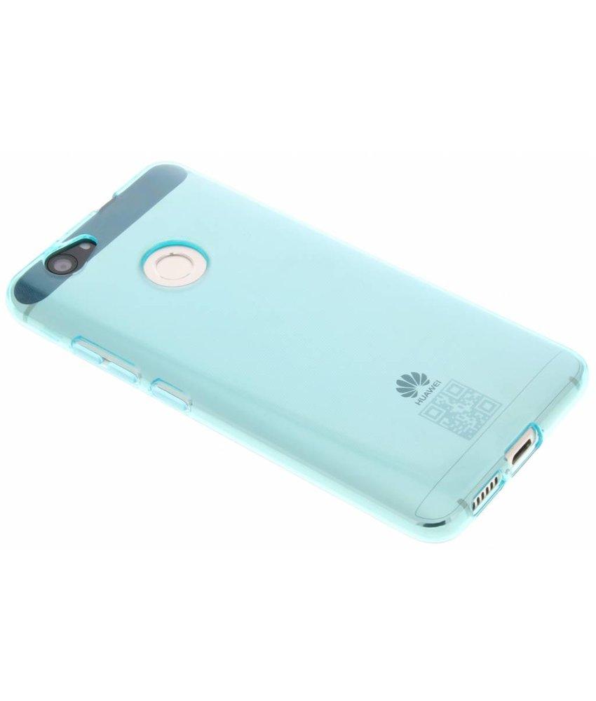 Turquoise transparant gel case Huawei Nova