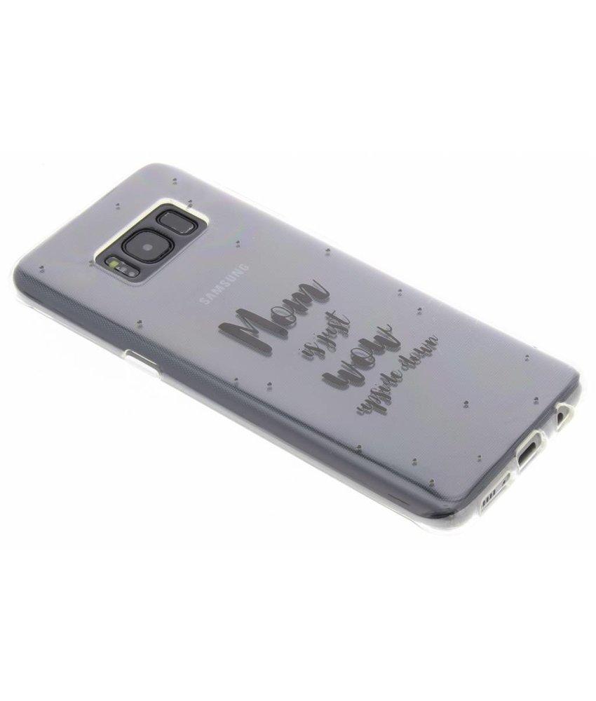 Quote design TPU hoesje Samsung Galaxy S8