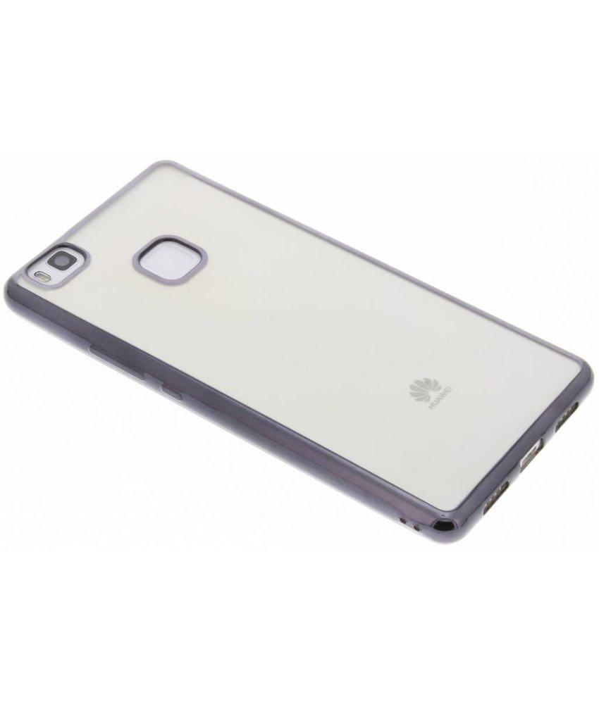 Donkergrijs TPU hoesje met metallic rand Huawei P9 Lite