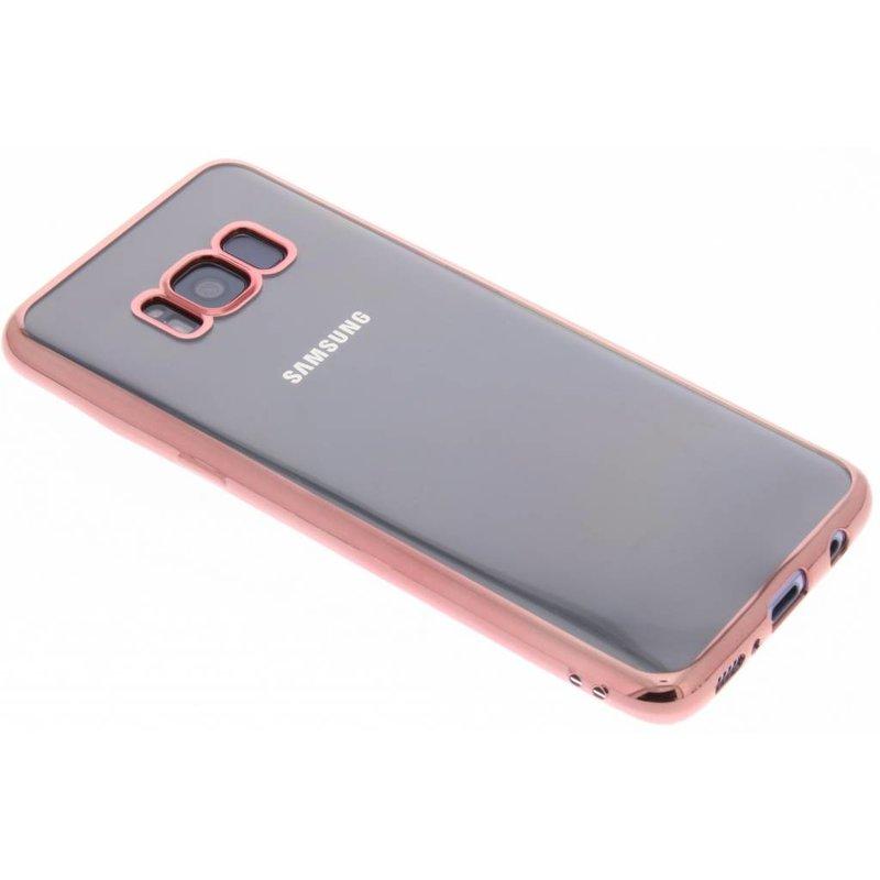 Rosé TPU hoesje met metallic rand Samsung Galaxy S8