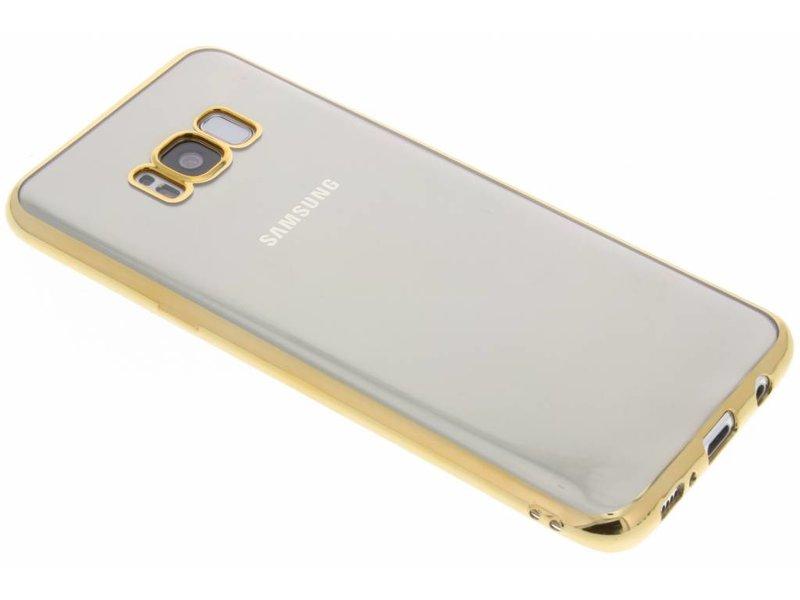 Or Cas De Tpu Avec Bord Métallique Pour Samsung Galaxy S8, Plus