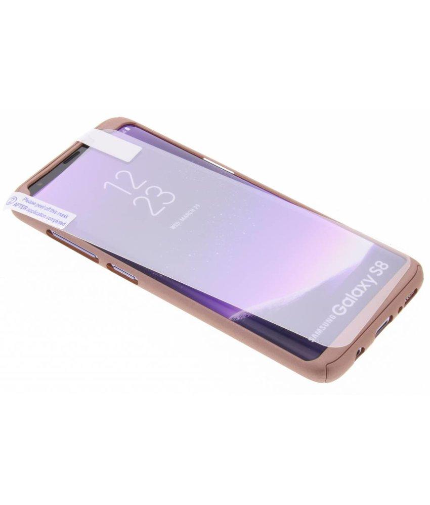 Roze 360° effen protect case Samsung Galaxy S8