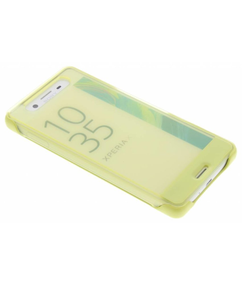 Sony Geel Style Cover Touch Sony Xperia X