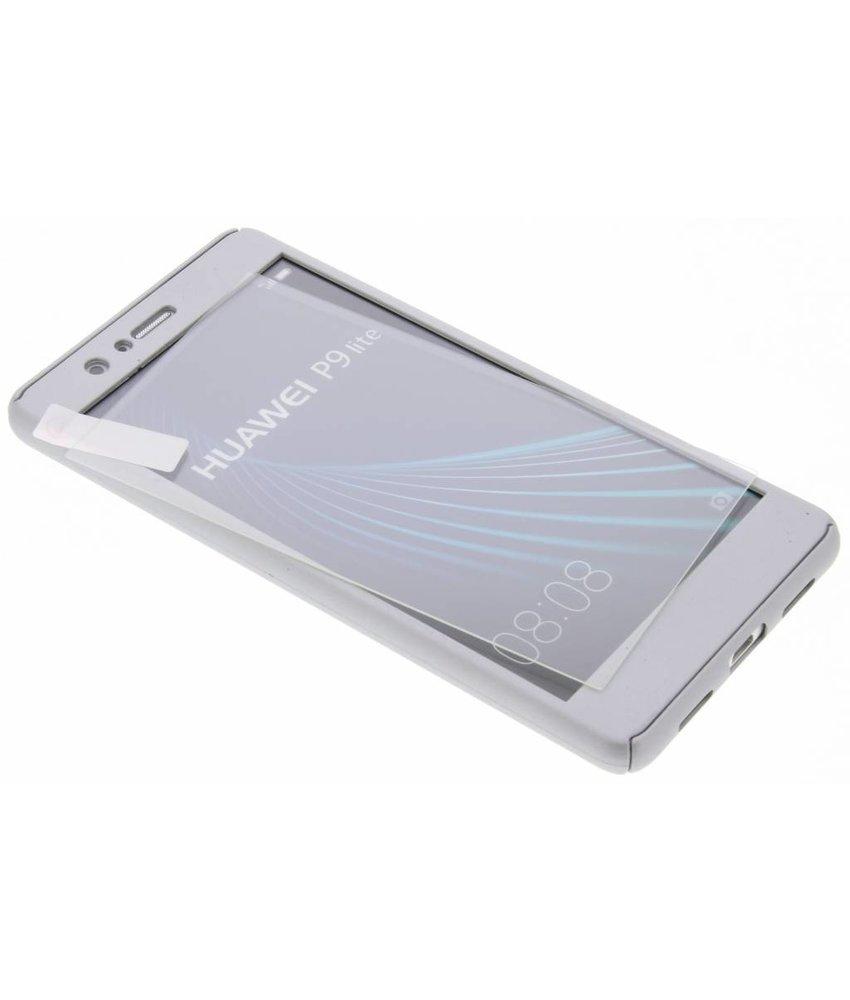 Zilver 360° effen protect case Huawei P9 Lite