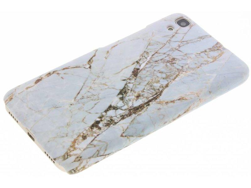 Huawei Y6 hoesje - Wit marmer design hardcase