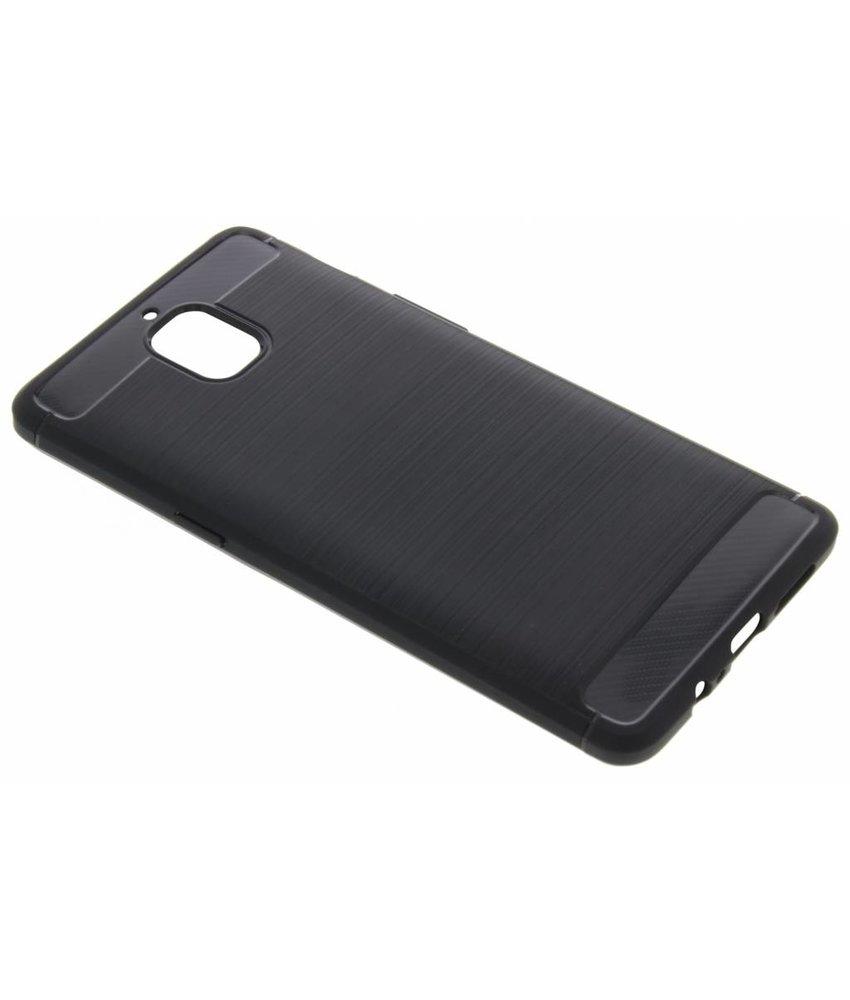 Zwart Brushed TPU case OnePlus 3 / 3T
