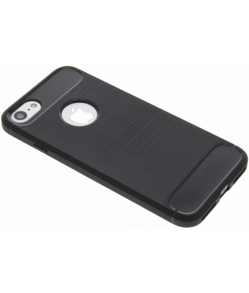 Zwart Brushed TPU case iPhone 8 / 7