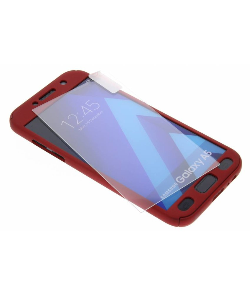 Rood 360° effen protect case Samsung Galaxy A5 (2017)