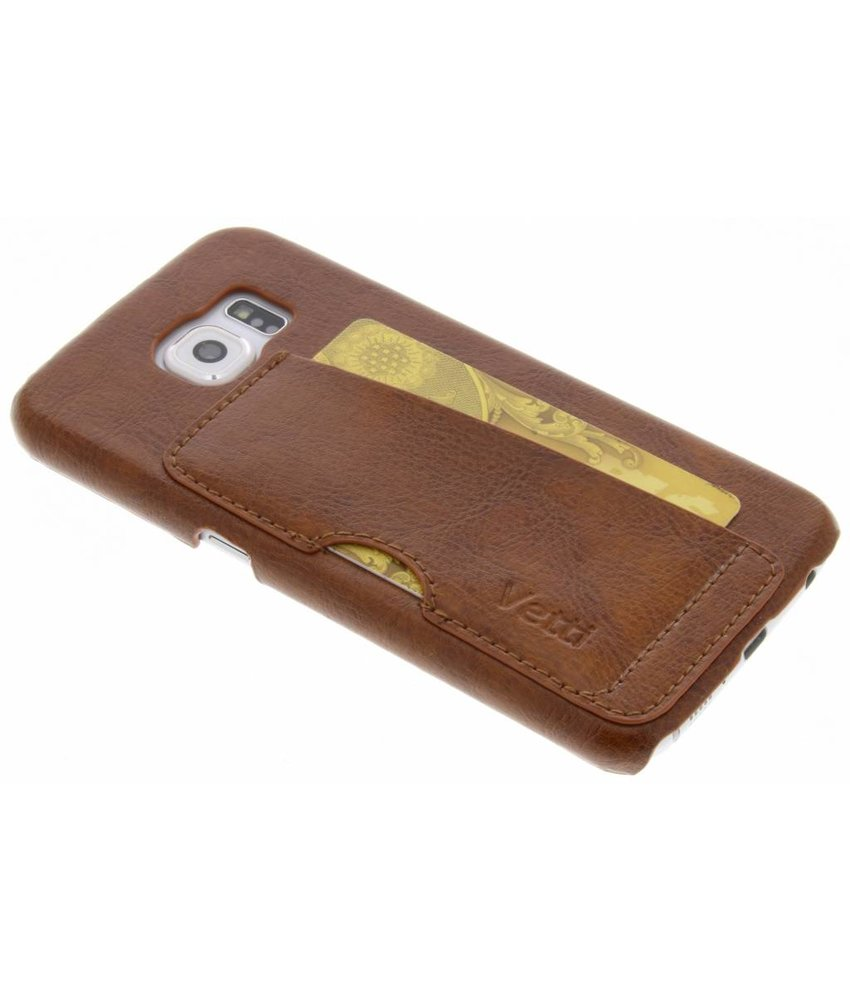 Vetti Craft Bruin Card Slot Snap Cover Samsung Galaxy S6