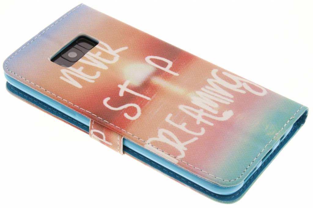 Conception Plumes Cas Booktype Tpu Pour Samsung Galaxy S8, Plus