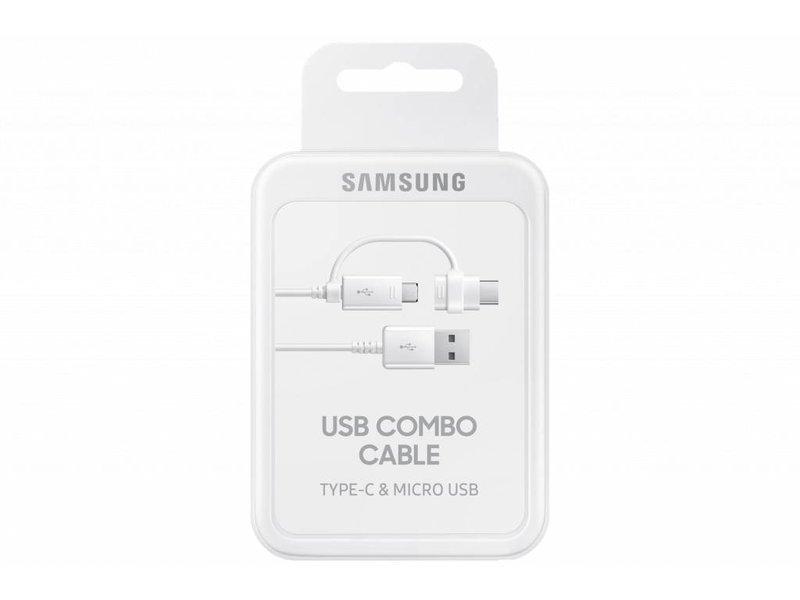 Samsung USB-C & Micro-USB naar USB-kabel 1,5 meter - Wit