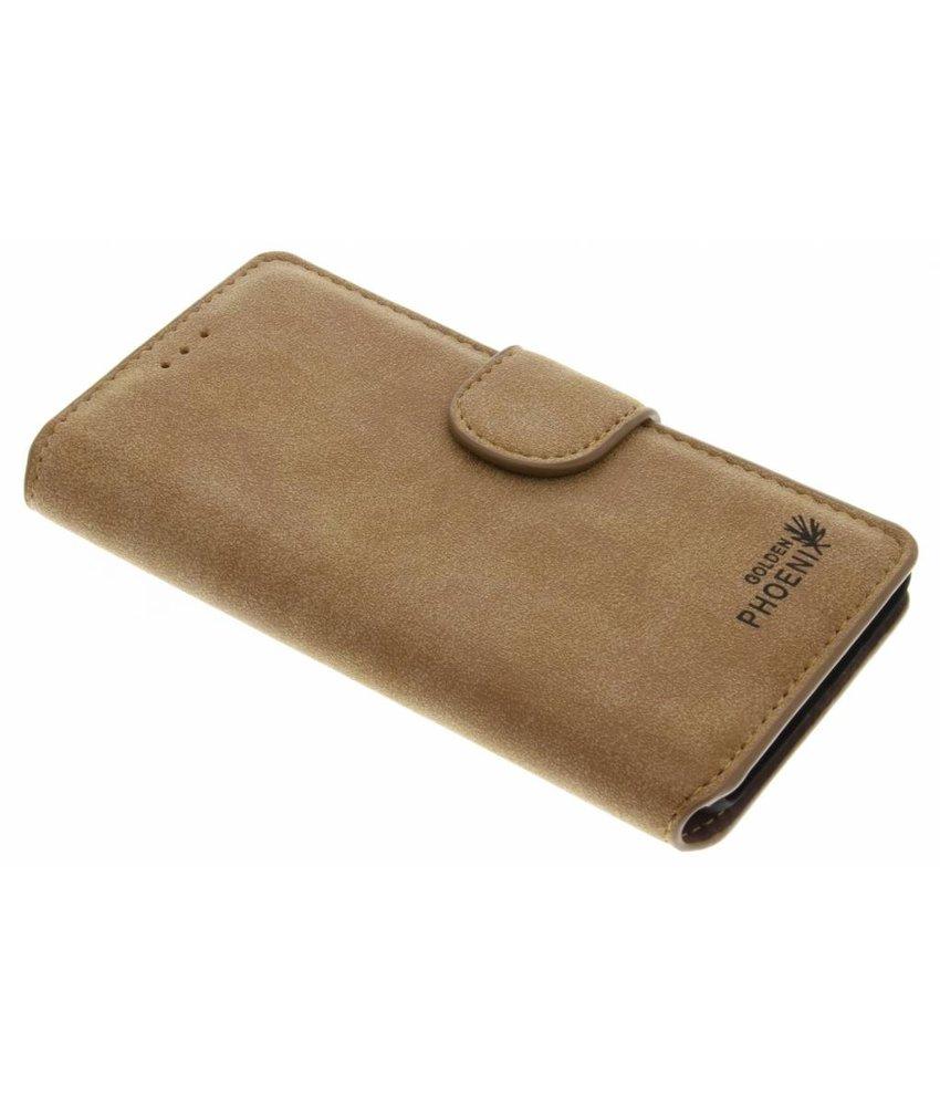 Khaki luxe suède booktype hoes OnePlus 3 / 3T