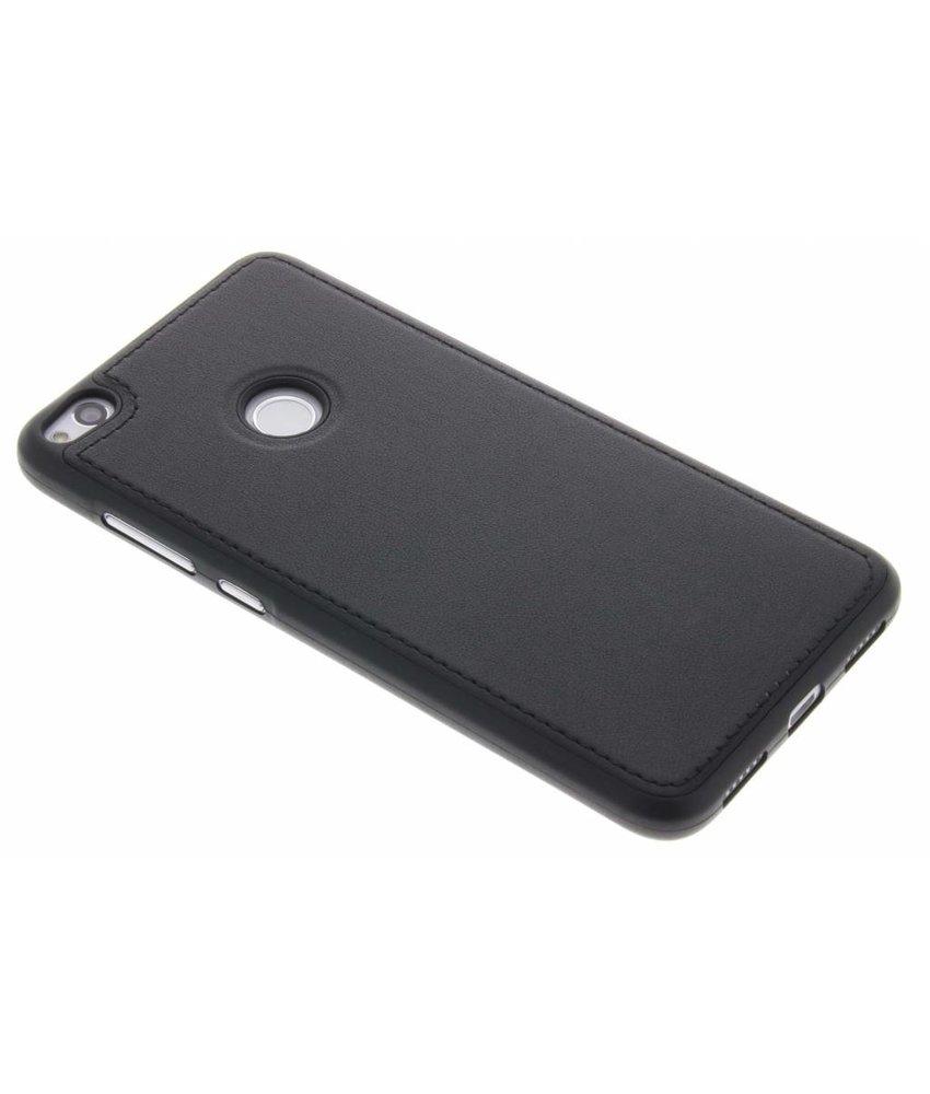Zwart Lederen TPU case Huawei P8 Lite (2017) / P9 Lite (2017)