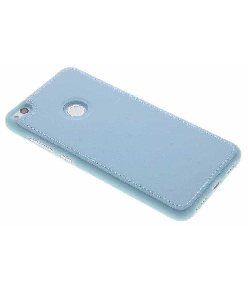 Blauw Lederen TPU case Huawei P8 Lite (2017)