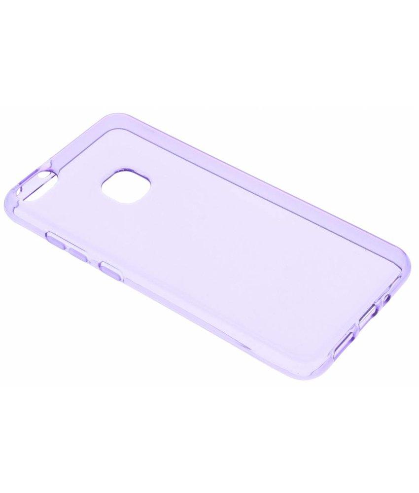Paars transparant gel case Huawei P10 Lite