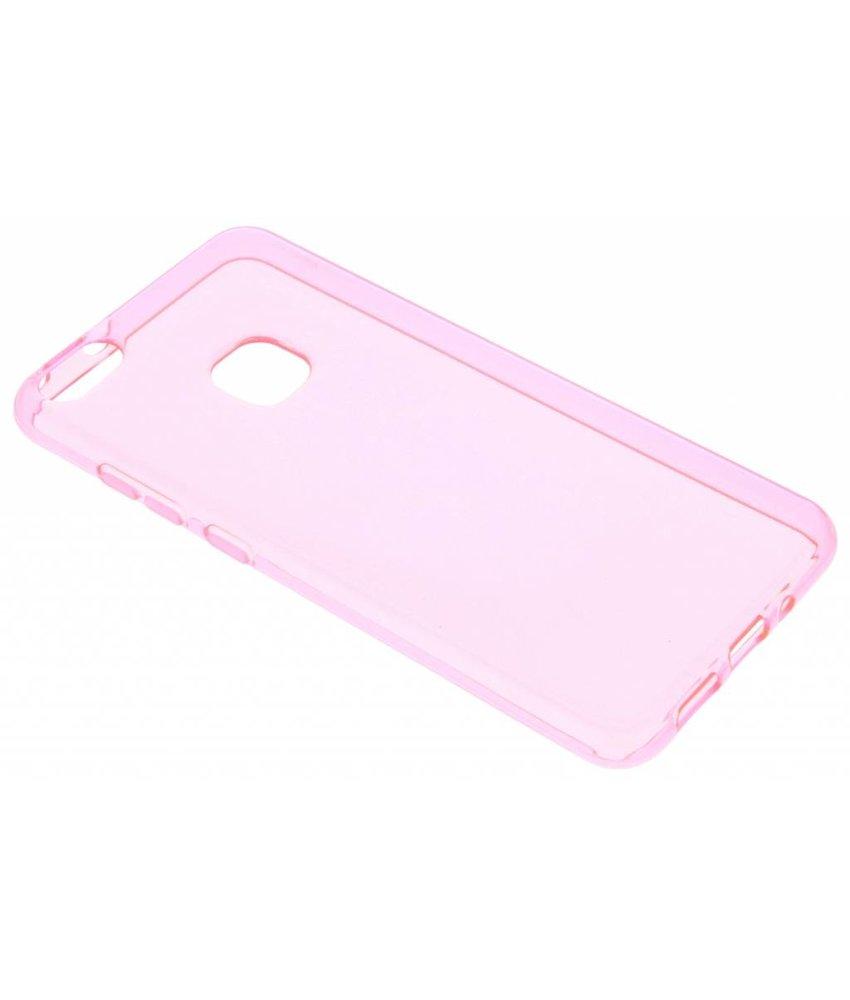 Roze transparant gel case Huawei P10 Lite