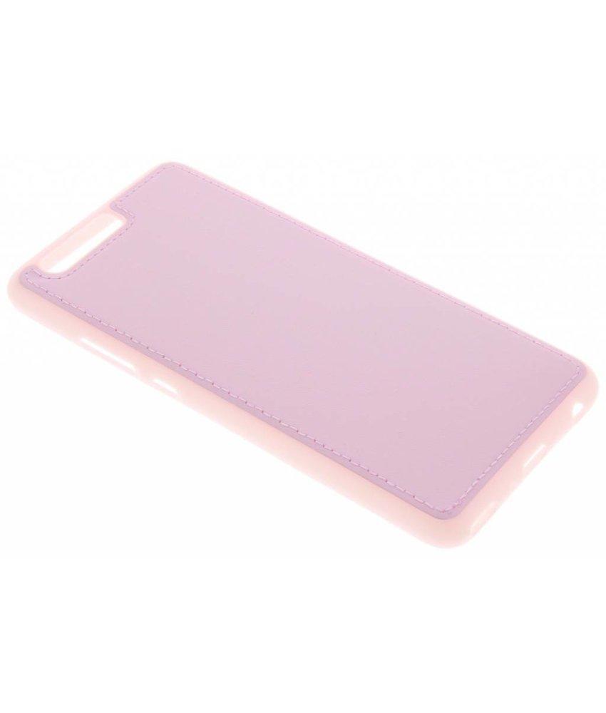 Roze lederen TPU case Huawei P10 Plus