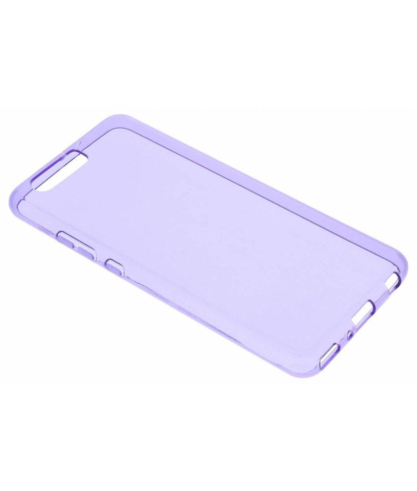 Paars transparant gel case Huawei P10 Plus