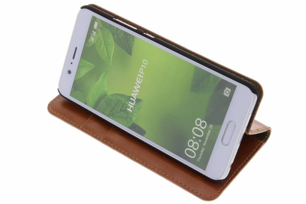 Cognac Cas De Type Livre D'affaires Pour Huawei P10 bpEUA