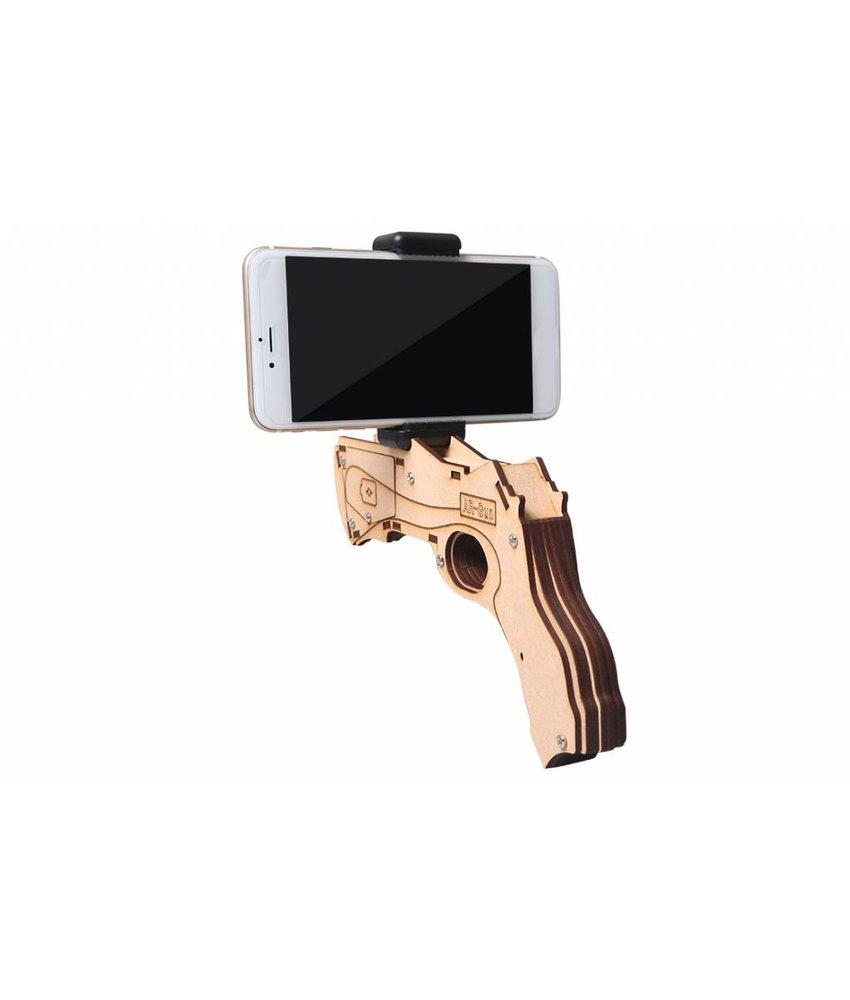 Houten AR Gun voor smartphones