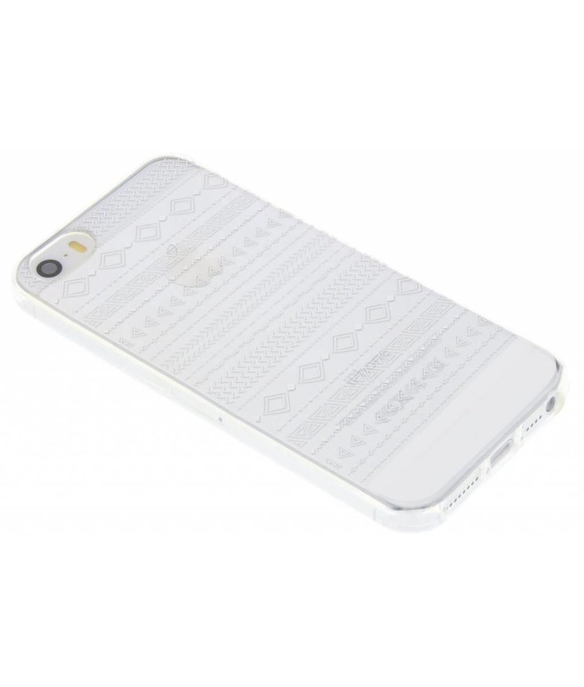 Transparant festival TPU hoesje iPhone 5 / 5s / SE