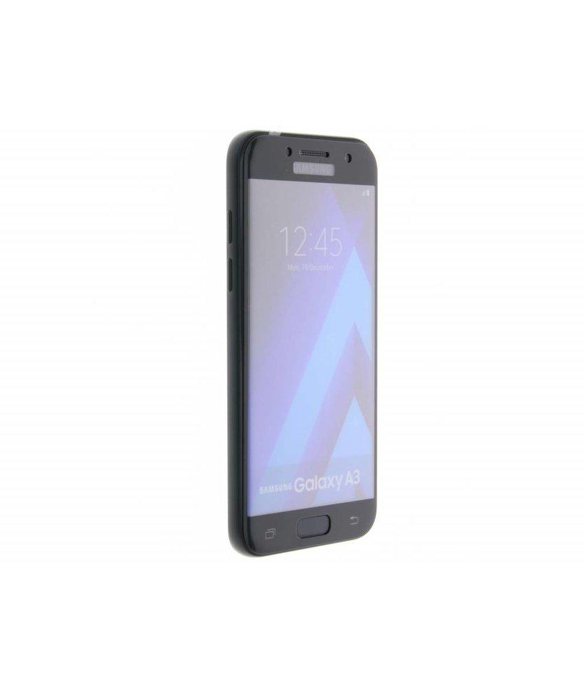 Zwart gehard glas screenprotector Samsung Galaxy A3 (2017)