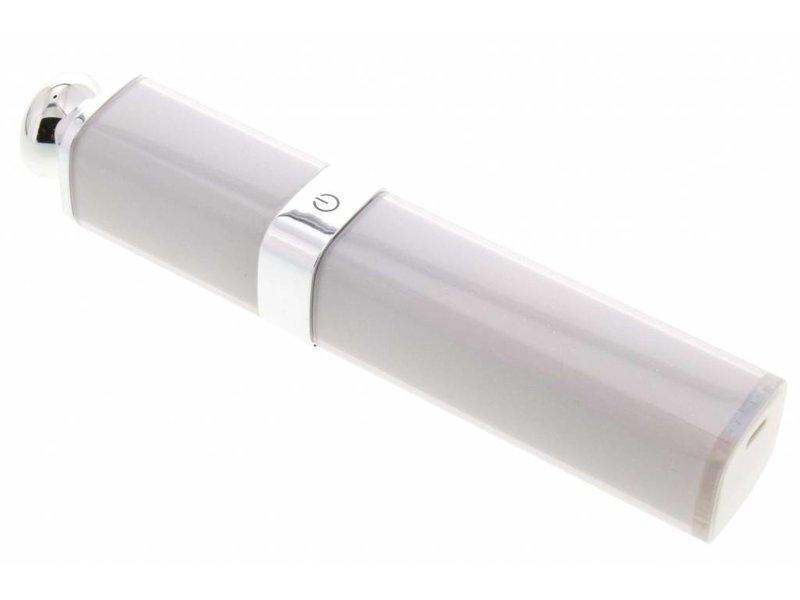 Witte lipstick selfie stick
