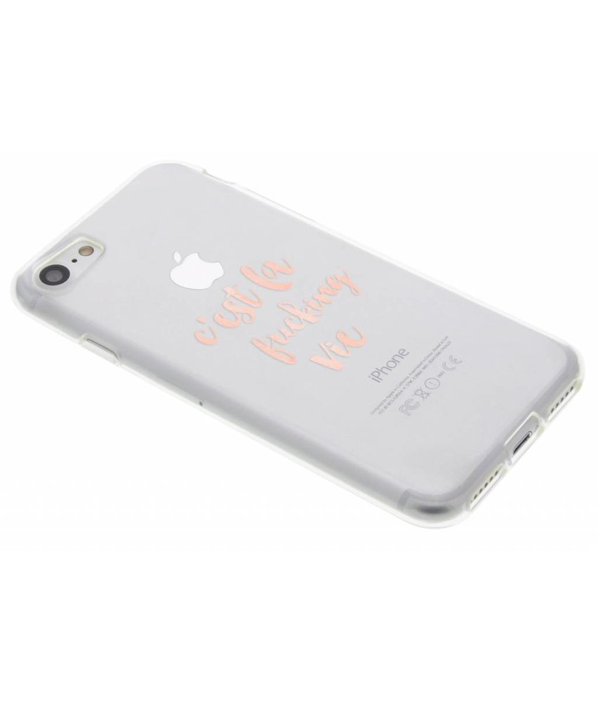 Quote design TPU hoesje iPhone 7