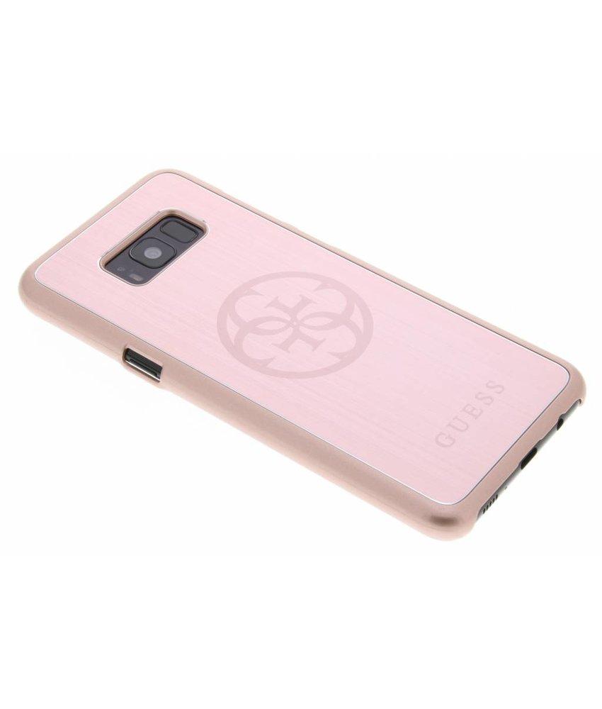 Guess Rosé Goud 4G Brushed Metallic Case Samsung Galaxy S8 Plus