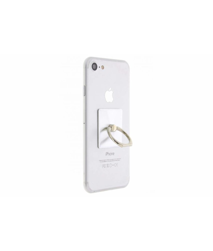Zilver mobile phone ring stand universeel