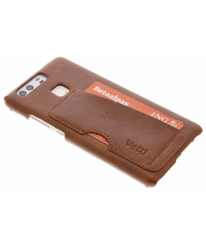 Vetti Craft Bruin Card Slot Snap Cover Huawei P9