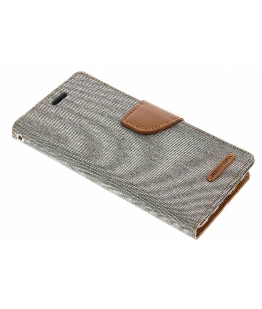 Mercury Goospery Grijs Canvas Diary Case Samsung Galaxy S8