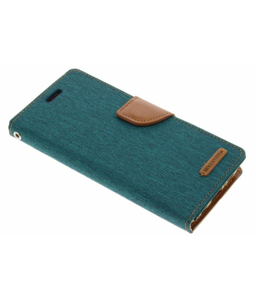 Mercury Goospery Groen Canvas Diary Case Samsung Galaxy S8