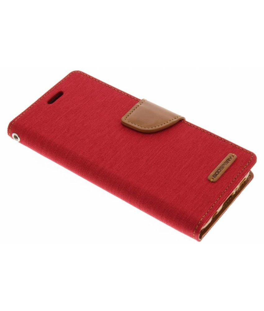 Mercury Goospery Rood Canvas Diary Case Samsung Galaxy S8
