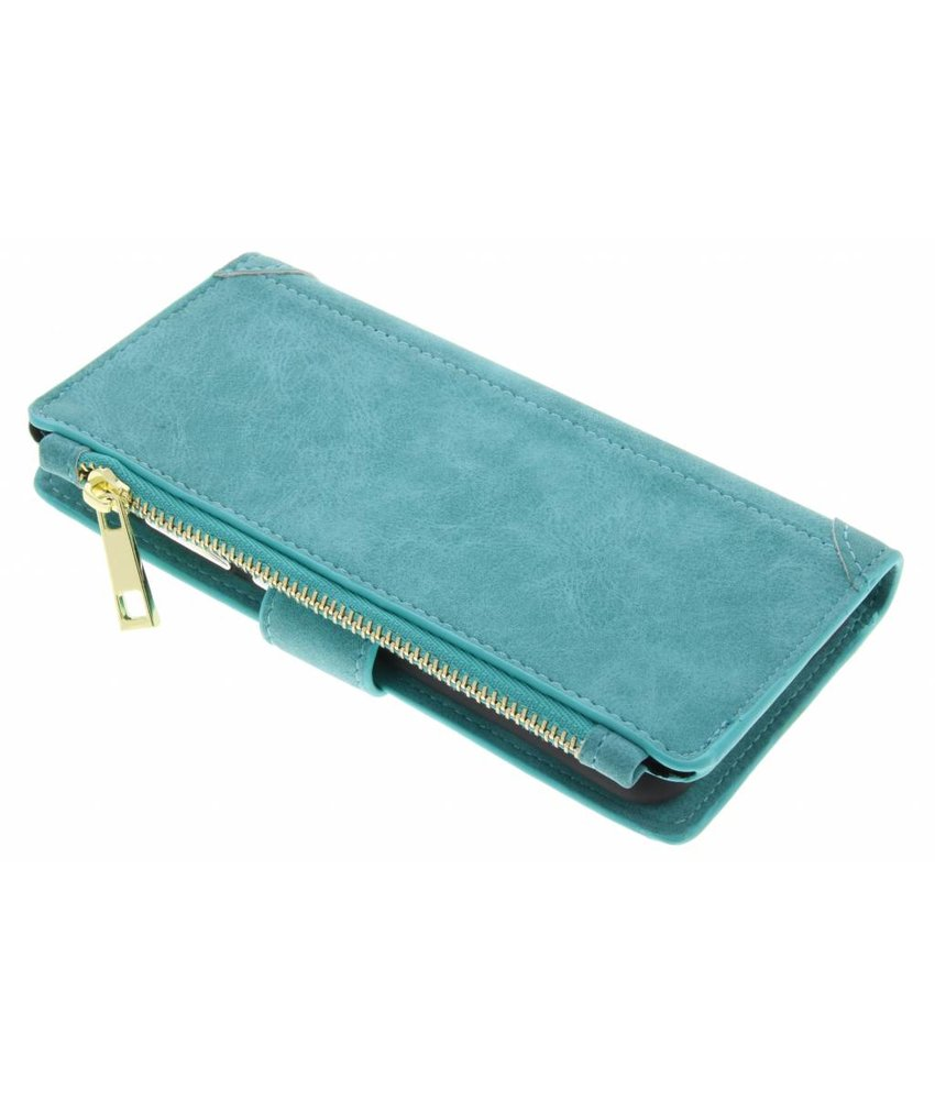 Turquoise luxe portemonnee hoes Huawei P10 Lite